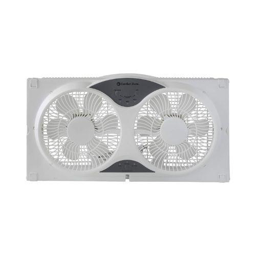 Comfort Zone Reversible Twin Window Fan