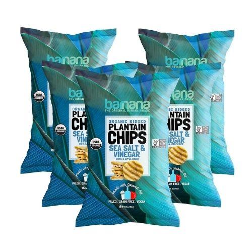 Barnana Organic Plantain Chips with Sea Salt & Vinegar